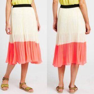NWOT Lush Pleated Neon Color Block Skirt